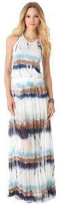 white, blue, brown Maxi Dress by Young Fabulous & Broke Tie Dye Maxi Beach Sexy Modal