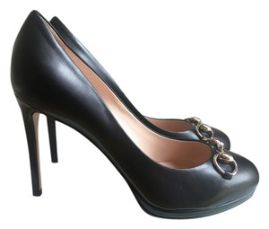 Gucci Horsebit Gisele Black Pumps