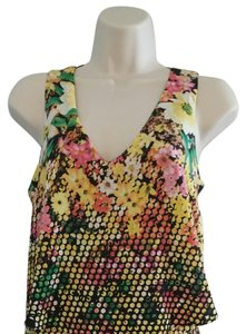 Saks Fifth Avenue short dress Yellow Floral Short Designer on Tradesy