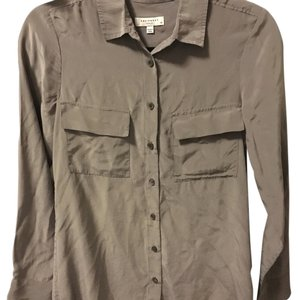 Equipment Button Down Shirt grey