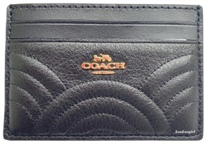 Coach COACH Quilted Art Deco Credit Card Case ID Holder Mini Wallet F87883