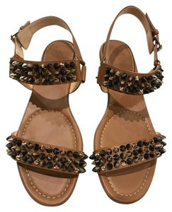 Christian Louboutin Bikee Bike Spike Flat Sandal brown Sandals