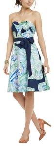Anthropologie Strapless Sweetheart Print Moulinette Seours Dress