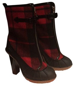 Michael Kors red and black plaid Boots