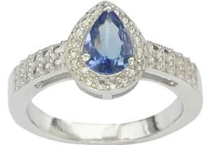 Other Genuine AA Tanzanite 1.0 ct Pear Cut Ring, Size 8 925 Sterling Silver