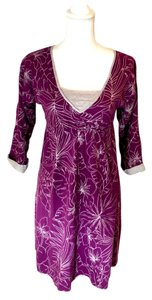 Tori Richard short dress purple and grey Tropical on Tradesy