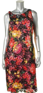 Adrianna Papell Floral Lace Color Dress