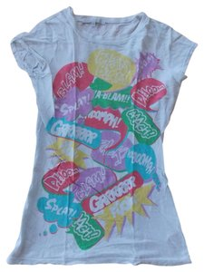 Charlotte Russe T Shirt white, red, purple, green, blue