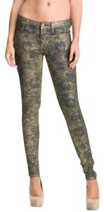 7 For All Mankind Floral Skinny Jeans-Coated