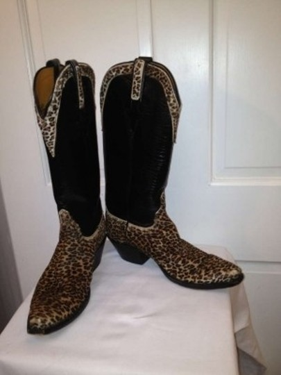 Lucchese Leopard and Black Boots