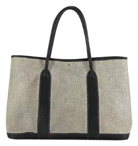 Hermès Tote in Gray x Black
