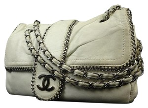 Chanel Modern Chain Through Maxi Classic Shoulder Bag