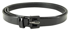 Chanel Black Patent Skinny Belt