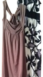 Soprano short dress Brown, Black, White on Tradesy