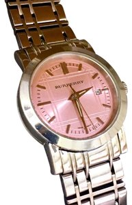 Burberry Heritage Collect. Ladies Watch, BU1363- S.S. Construction, Pink Dial