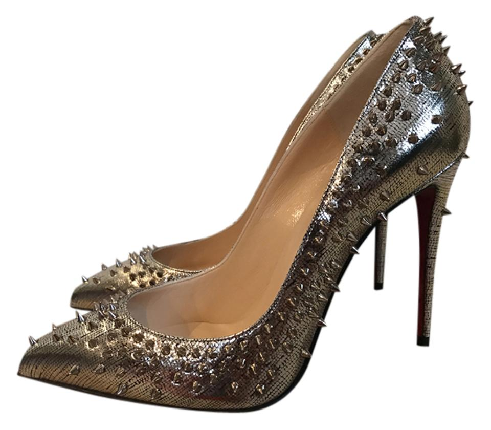 541701179ba Christian Louboutin Gold Escarpic 100 Spike Pointed Pumps Size US 9.5 45%  off retail