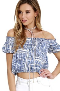 Lulu*s Top blue print