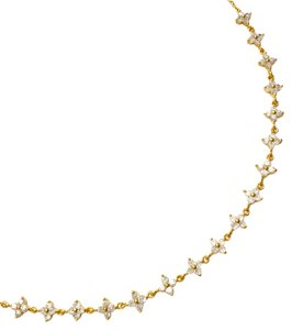 Elliot Francis faux Diamond clover necklace