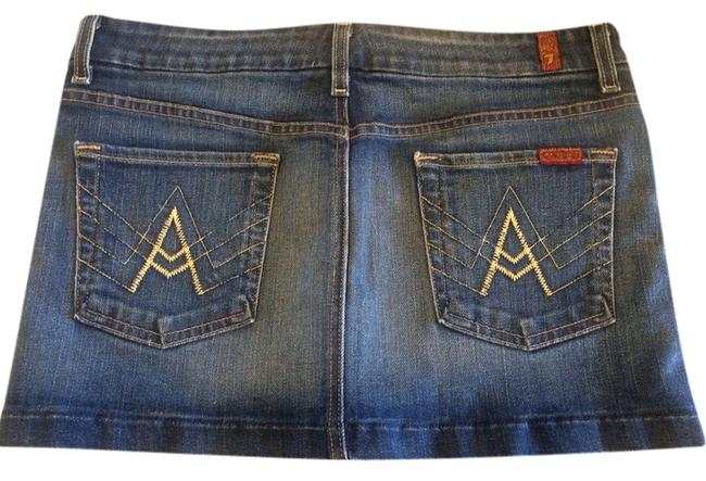 7 For All Mankind Skirt Medium Wash