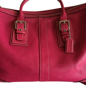 Coach Leather Pop Of Color Satchel in ROSE