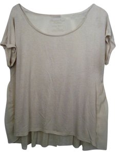 American Eagle Outfitters Aeo Large Short Sleeve Scoop Neck Top Light Brown