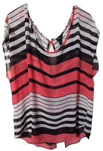 Torrid Striped Black 1x Tunic