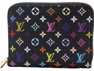 Louis Vuitton Multicolore Noir Zippy Coin Purse with Violette Interior