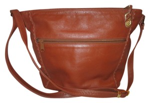 Ganson Leather Vintage Goldtone Shoulder Bag