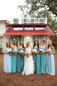 Bill Levkoff Light Blue Style 1121 Or Rn 82955 Dress