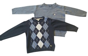 Burberry Kids Argyle Textured Sweater