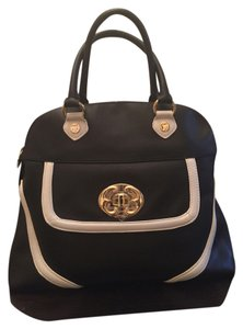 Emma Fox Satchel in Black and white