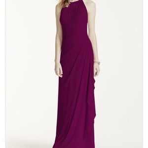 David's Bridal Wine David's Bridal Bridesmaids Dress In Wine Dress