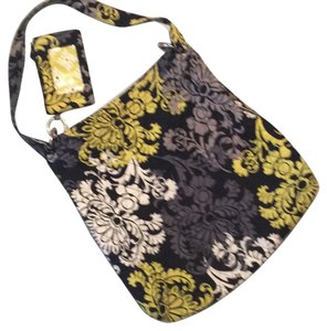 Vera Bradley Tote in yellow black gray white.