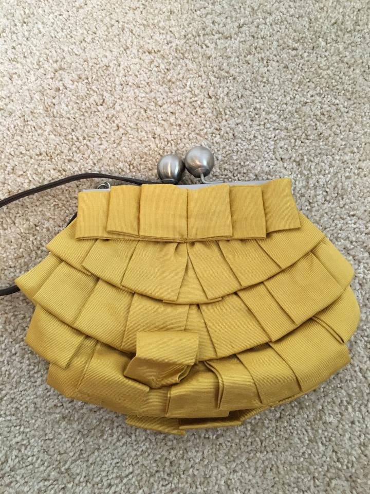 Boden yellow ribbon mustard yellow clutch on sale 65 off for Boden yellow