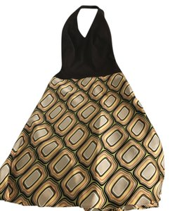 Laundry by Shelli Segal short dress Brown- Gold on Tradesy