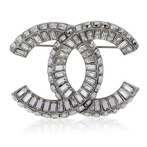 Chanel Chanel Baguette Crystal CC Brooch in Box