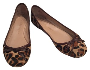 Jean-Michel Cazabat Leopard print with brown trim Flats