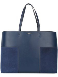 Tory Burch Suede Leather Tote in Navy Blue