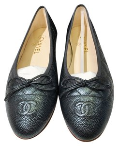 Chanel Bellet Ballerina Grey Size 39 Grey Anthracite Flats