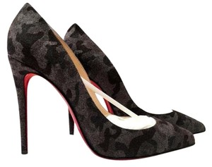 Christian Louboutin Louboutin Pigalle Follies Pigalle Follies Black Grey Fusain Camouflage Pumps