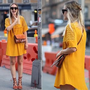 Zara short dress Mustard on Tradesy