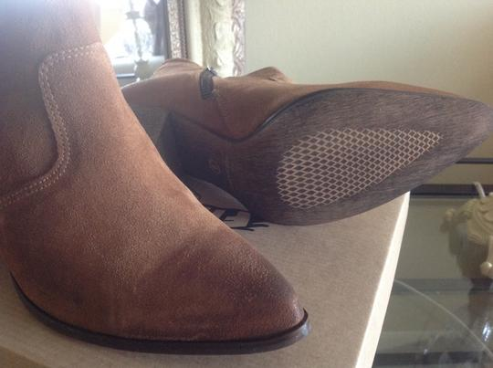 FreeBird By Steven Ankle Cognac Suede Boots Image 1