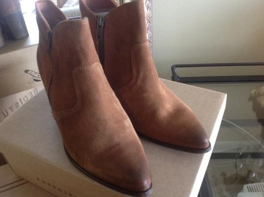 FreeBird By Steven Ankle Cognac Suede Boots Image 2