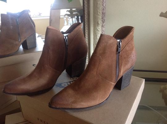 FreeBird By Steven Ankle Cognac Suede Boots Image 3