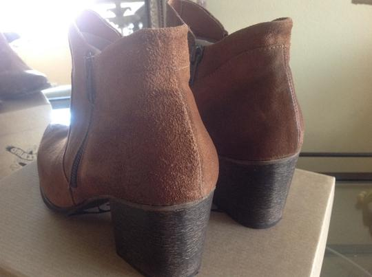 FreeBird By Steven Ankle Cognac Suede Boots Image 4