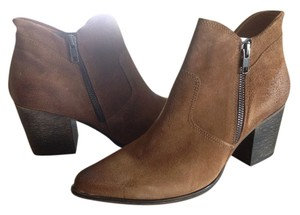 FreeBird By Steven Ankle Boot Cognac Suede Boots