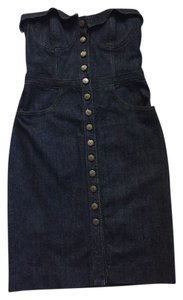 Betsey Johnson Denim Cotton Fitted Pockets Dress