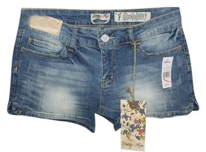 Indigo Rein Mini/Short Shorts Distressed Denim