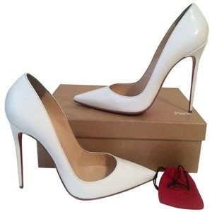 Christian Louboutin Pointed Toe Pigalle So Kate White Pumps