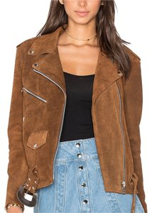 understated leather XS Brand new brown Leather Jacket